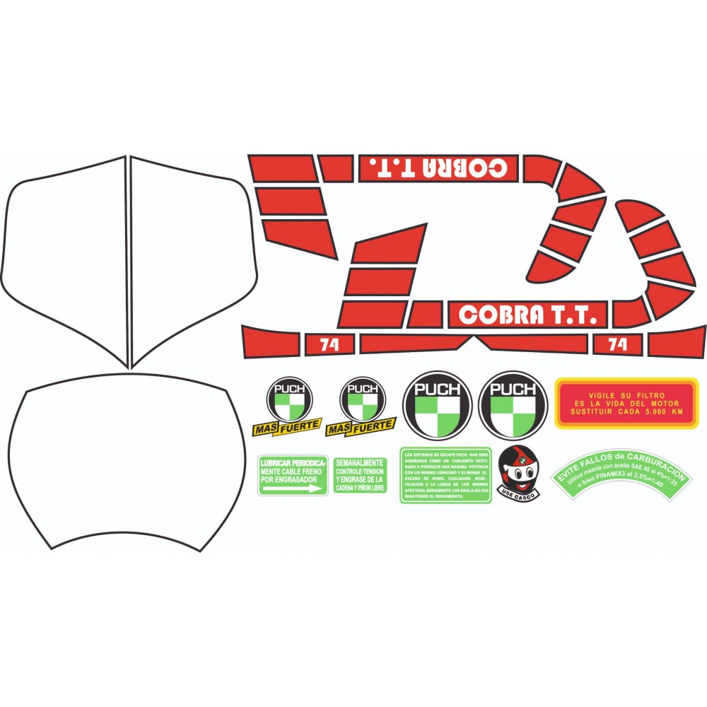 Puch Cobra TT Sticker Kit