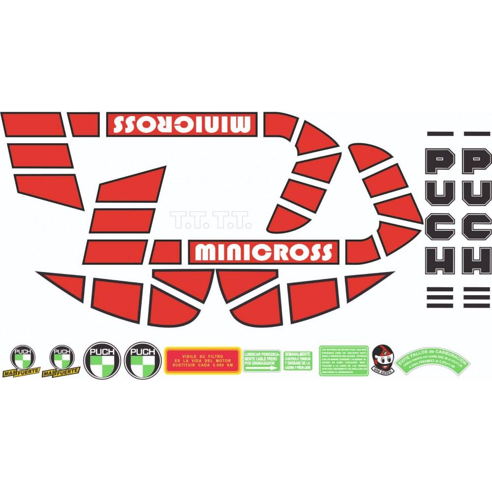 PUCH Minicross TT Stickers Kit