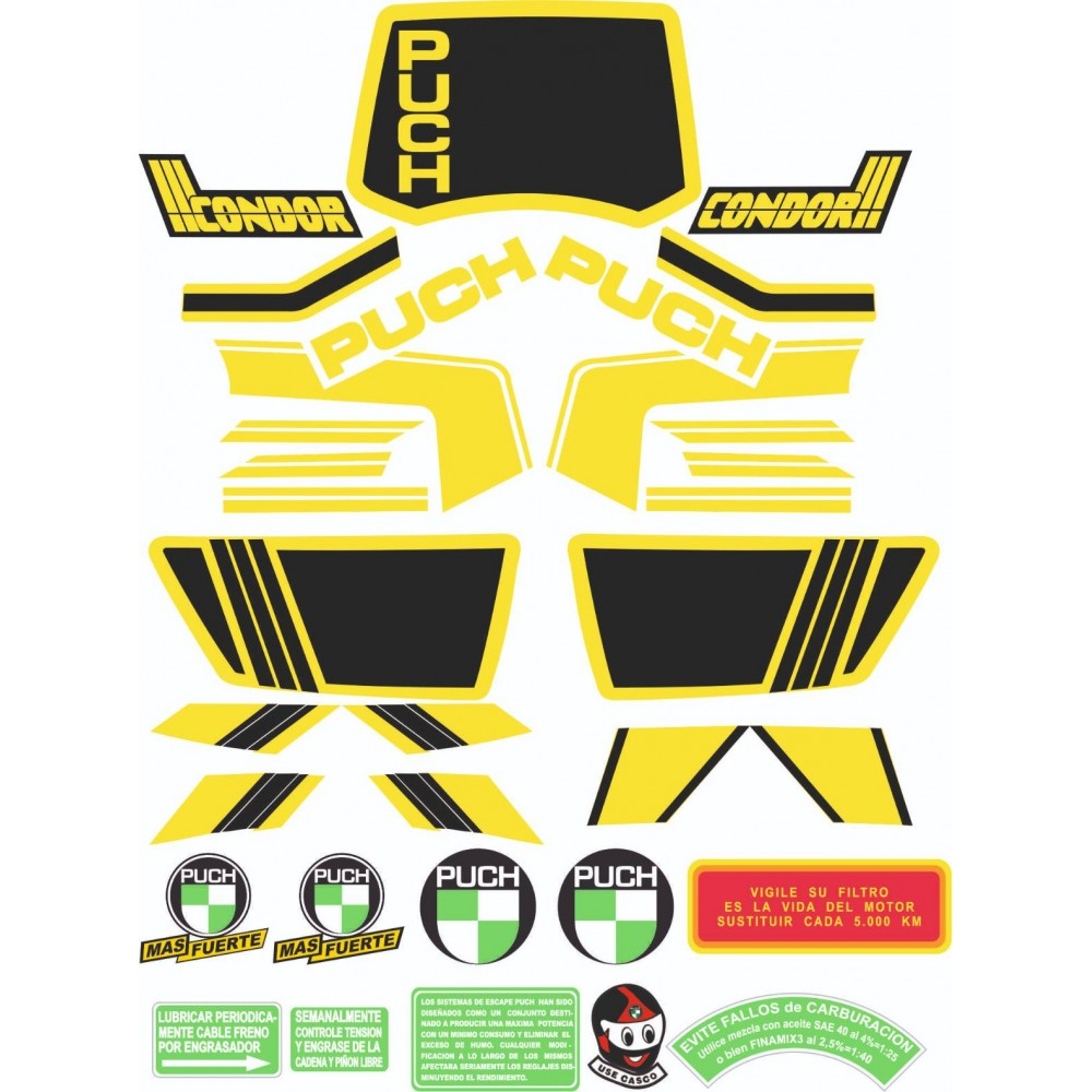 PUCH Condor III Sticker Kit
