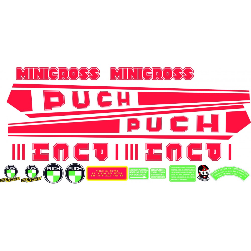 PUCH Minicross III Red...